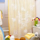 W163 Filet Crochet PATTERN ONLY Daisy Shower Curtain Pattern Daisies
