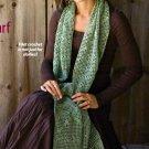 X299 Filet Crochet PATTERN ONLY Threadwork Scarf Pattern