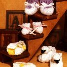 Y553 Crochet PATTERN ONLY Baby Bootie Bonanza Pattern Sandals Swan - 4 Styles