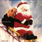 "X322 Crochet PATTERN Book ONLY Jolly Santa 36"" Santa Doll & Bag Pattern"