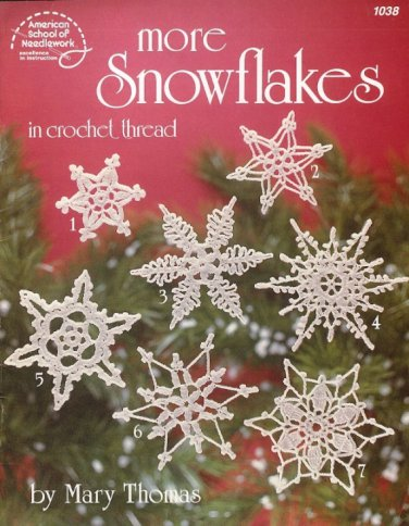 X522 Crochet PATTERN Book ONLY More Crocheted Snowflakes Christmas Ornaments