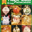 X177 Bead PATTERN Book ONLY Magic on Glass Beaded Christmas Ornament Covers