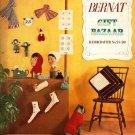 X094 Craft PATTERN Book ONLY Bernat Gift Bazaar Handicrafter #54 Vintage 1956