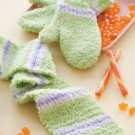 Y302 Crochet PATTERN ONLY Candy Store Child Size Mittens & Scarf set of Patterns
