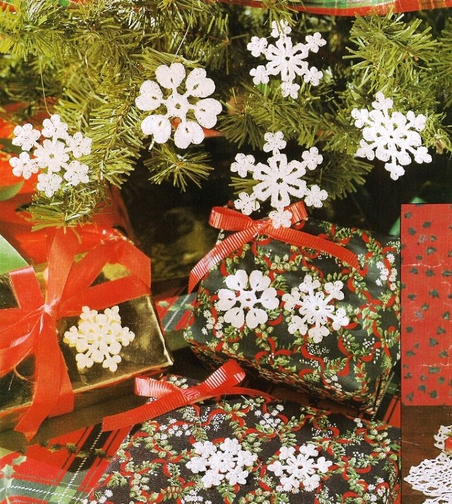Y436 Crochet PATTERN ONLY Snow Patch Snowflake Christmas Ornament Patterns