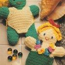 X577 Crochet PATTERN ONLY Bathtub Puppet Mermaid & Turtle Pattern
