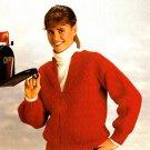 X027 Crochet PATTERN ONLY Ladies Red Zipper Cardigan Sweater Pattern