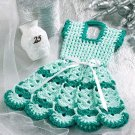 W057 Crochet PATTERN ONLY Doll Dress Pot Holder Potholder Pattern