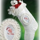 X243 Crochet PATTERN ONLY Baby's First Christmas Stocking & Photo Frame Pattern