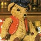 X261 Crochet PATTERN ONLY Antique Look Teddy Bear Pattern Doll Toy