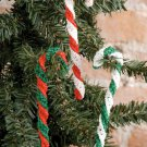 X607 Crochet PATTERN ONLY Candy Cane Christmas Ornament
