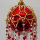 X616 Bead PATTERN ONLY Beaded Princess Christmas Ornament Cover