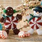 X727 Crochet PATTERN ONLY Peppermint People Christmas Ornament Pattern