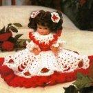 X779 Crochet PATTERN ONLY Little Miss Christmas Doll Dress