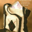X828 Crochet PATTERN ONLY Argyle Tote Bag & Kindergarten Poncho Pattern