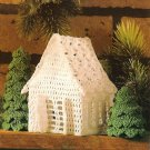 X943 Crochet PATTERN ONLY Victorian Miniature Cottage & Fir Tree Ornaments
