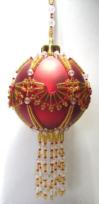 Y111 Bead PATTERN ONLY Beaded Fandango Christmas Ornament Cover