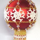 Y113 Bead PATTERN ONLY Beaded Snowflakes Christmas Ornament Cover