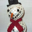 X323 Bead PATTERN ONLY Beaded Frosty Snowman Christmas Ornament Cover Pattern