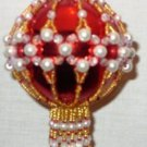X186 Bead PATTERN ONLY Beaded Coronet Christmas Ornament Cover Pattern