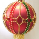 Y109 Bead PATTERN ONLY Beaded Balmoral Christmas Ornament Cover