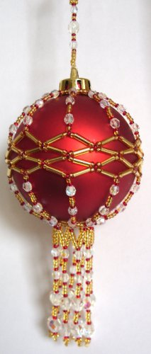 X095 Bead PATTERN ONLY Beaded Elizabeth Christmas Ornament Cover Pattern