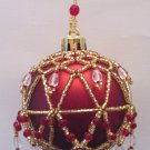 X326 Bead PATTERN ONLY Beaded Regal Christmas Ornament Cover Pattern