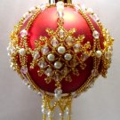 Y110 Bead PATTERN ONLY Beaded Buckingham Christmas Ornament Cover