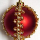 X531 Bead PATTERN ONLY Beaded Victoria Christmas Ornament Cover Pattern
