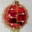 X604 Bead PATTERN ONLY Beaded Pearl Christmas Ornament Cover Pattern