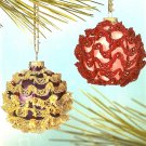 X519 Bead PATTERN ONLY Beaded Sparkling Ruffles Ornament Cover Pattern