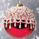 Y307 Bead PATTERN ONLY Beaded Frosted Holiday Christmas Ornament Cover Pattern