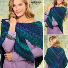 W336 Crochet PATTERN ONLY Picot-Boo Shawl Wrap Pattern EASY