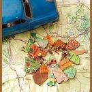 W079 Bead PATTERN ONLY Beaded Road Trip Bracelet Pattern Charms