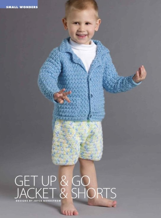 X999 Crochet PATTERN ONLY Child's Jacket & Shorts Outfit Toddler