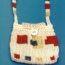 X061 Bead PATTERN ONLY Tribute to Mondrian Purse Herringbone & Other Stitches