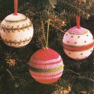 X994 Crochet PATTERN ONLY 3 Christmas Ornament Ball Covers Pattern