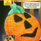 Y160 Crochet PATTERN ONLY Jack O'Lantern Pumpkin Pillow Happy or Scary Face