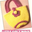 Y359 Crochet PATTERN ONLY Little Girl's Purse Pattern