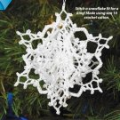 Y909 Crochet PATTERN ONLY King Arthur 3-D Snowflake Christmas Ornament Pattern