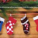 Y921 Crochet PATTERN ONLY Set of 6 Mini Christmas Stocking Patterns