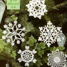 Y957 Crochet PATTERN ONLY 5 Blizzard Snowflake Christmas Ornament Patterns