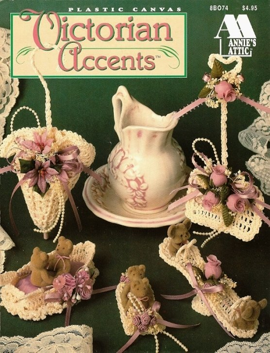 X912 Crochet PATTERN Book ONLY Victorian Accents, 11 Christmas Ornaments