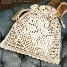 X684 Filet Crochet PATTERN ONLY Victorian Rose Purse Pattern