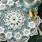 W097 Crochet PATTERN ONLY Elegant Rosslare Floral Doily Pattern