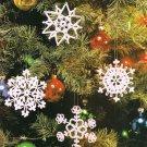 X376 Crochet PATTERN ONLY 4 Snowfall Snowflake Ornament Pattern