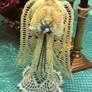 X198 Crochet PATTERN ONLY Pineapple Lace Christmas Angel Tree Topper Ornament