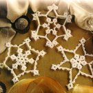 W100 Crochet Tat PATTERN ONLY Crochet Tatted Snowflakes Christmas Ornaments