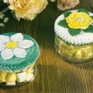 X341 Crochet PATTERN ONLY 2 Floral Lid Covers & Floral Potholder Pattern