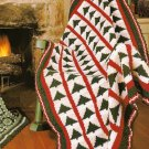 Y264 Crochet PATTERN ONLY Christmas Tree Afghan Throw Pattern